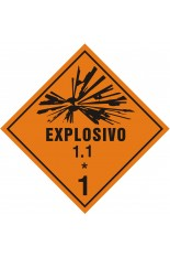 Subclasse 1.1 / Explosivo - 25 x 25 cm