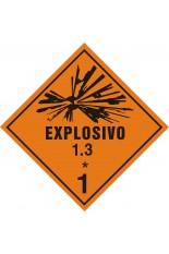 Subclasse 1.3 / Explosivo - 25 x 25 cm