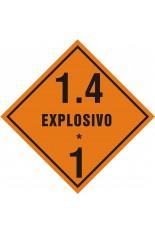 Subclasse 1.4 / Explosivo - 30 x 30 cm