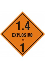 Subclasse 1.4 / Explosivo - 25 x 25 cm