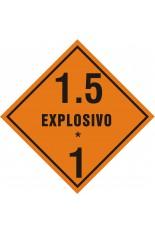 Subclasse 1.5 / Explosivo - 25 x 25 cm
