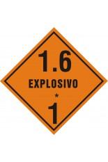 Subclasse 1.6 / Explosivo - 25 x 25 cm