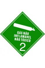 Subclasse 2.2 / Gás não inflamável, não tóxico - 10 x 10 cm