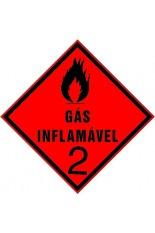 Subclasse 2.1 / Gás inflamável - 25 x 25 cm
