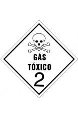 Subclasse 2.3 / Gás tóxico - 30 x 30 cm