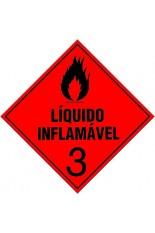 Classe 3 / Líquido inflamável - 10 x 10 cm