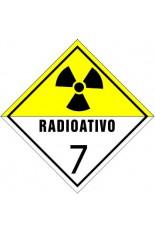 Classe 7 / Material radioativo - 30 x 30 cm