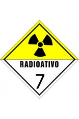 Classe 7 / Material radioativo - 25 x 25 cm