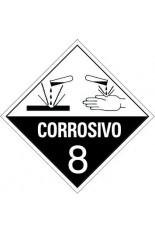 Classe 8 / Substâncias Corrosivas - 25 x 25 cm