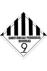 Classe 9 / Substâncias e Artigos Perigosos Diversos - 25 x 25 cm