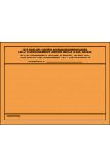 Envelope para  Ficha de emergência