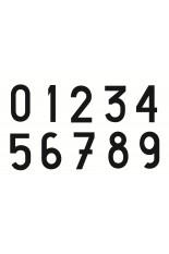 Número em Vinil autoadesivo - cor preta